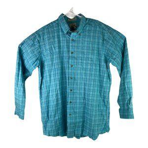 L.L. Bean Mens XLT Blue Check Wrinkle Resistant